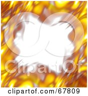Royalty Free RF Clipart Illustration Of A Blurry Fiery Border On White