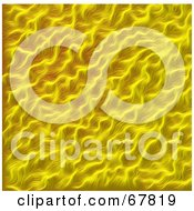 Royalty Free RF Clipart Illustration Of A Textured Background Of Yellow Hair Or Fur by Arena Creative