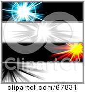 Royalty Free RF Clipart Illustration Of A Digital Collage Of Website Burst Banners by Arena Creative