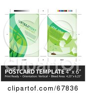 Royalty Free RF Clipart Illustration Of A Going Green Ecology Postcard Template