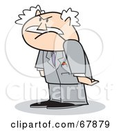 Royalty Free RF Clipart Illustration Of A Grumpy Bald Old Walt Businessman by Andy Nortnik