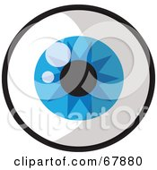 Royalty Free RF Clipart Illustration Of A Sparkling Round Blue Eye by Rosie Piter