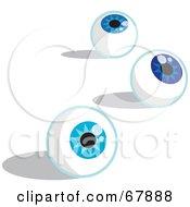 Three Blue Eyeballs