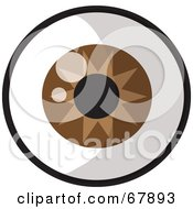 Royalty Free RF Clipart Illustration Of A Sparkling Brown Green Eye