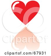Royalty Free RF Clipart Illustration Of A Red Love Heart With A Reflection