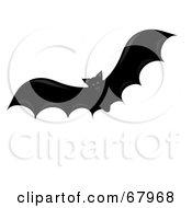 Royalty Free RF Clipart Illustration Of A Flying Red Eyed Vampire Bat