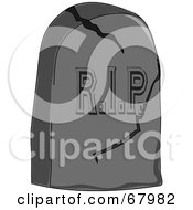 Royalty Free RF Clipart Illustration Of A Cracking RIP Tombstone by Pams Clipart