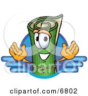 Clipart Picture Of A Green Carpet Mascot Cartoon Character Logo With Blue Lines