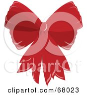 Royalty Free RF Clipart Illustration Of A Red Double Christmas Bow
