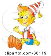 Royalty Free RF Clipart Illustration Of A Friendly Wooden Puppet Boy