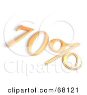 Royalty Free RF Clipart Illustration Of A 3d 70 Percent Off In Orange