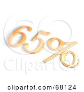 Royalty Free RF Clipart Illustration Of A 3d 65 Percent Off In Orange by MacX