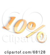 Royalty Free RF Clipart Illustration Of A Thick 3d 10 Percent Off In Orange