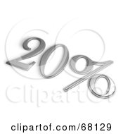 Royalty Free RF Clipart Illustration Of A 3d 20 Percent Off In Chrome