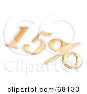 Royalty Free RF Clipart Illustration Of A 3d 15 Percent Off In Orange