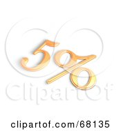 Royalty Free RF Clipart Illustration Of A 3d 5 Percent Off In Orange