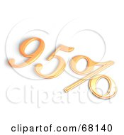 Royalty Free RF Clipart Illustration Of A 3d 95 Percent Off In Orange