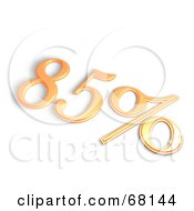 Royalty Free RF Clipart Illustration Of A 3d 85 Percent Off In Orange