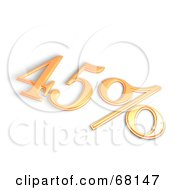 Royalty Free RF Clipart Illustration Of A 3d 45 Percent Off In Orange