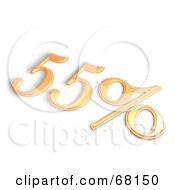 Royalty Free RF Clipart Illustration Of A 3d 55 Percent Off In Orange