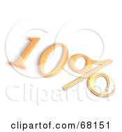 Royalty Free RF Clipart Illustration Of A 3d 10 Percent Off In Orange