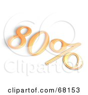 Royalty Free RF Clipart Illustration Of A 3d 80 Percent Off In Orange