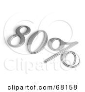 Royalty Free RF Clipart Illustration Of A 3d 80 Percent Off In Chrome