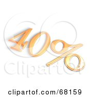 Royalty Free RF Clipart Illustration Of A 3d 40 Percent Off In Orange