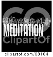 Royalty Free RF Clipart Illustration Of A Meditation Word Collage Version 2