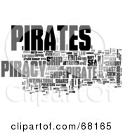 Royalty Free RF Clipart Illustration Of A Piracy Word Collage Version 2
