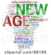 Royalty Free RF Clipart Illustration Of A New Age Word Collage Version 2