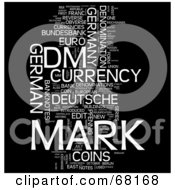 Royalty Free RF Clipart Illustration Of A Mark Word Collage Version 1 by MacX