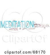 Royalty Free RF Clipart Illustration Of A Meditation Word Collage Version 1