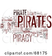 Royalty Free RF Clipart Illustration Of A Piracy Word Collage Version 1
