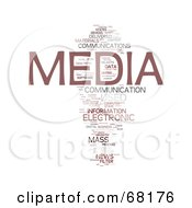 Royalty Free RF Clipart Illustration Of A Media Word Collage
