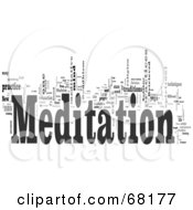 Royalty Free RF Clipart Illustration Of A Meditation Word Collage Version 3