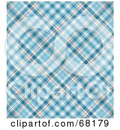 Royalty Free RF Clipart Illustration Of A Blue Plaid Background by MacX