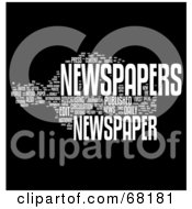 Royalty Free RF Clipart Illustration Of A Newspaper Word Collage Version 1