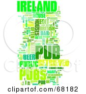 Royalty Free RF Clipart Illustration Of An Ireland Pub Word Collage Version 3