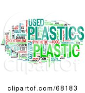 Royalty Free RF Clipart Illustration Of A Plastic Word Collage Version 4