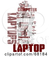 Royalty Free RF Clipart Illustration Of A Laptop Word Collage Version 1 by MacX