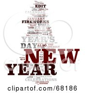 Royalty Free RF Clipart Illustration Of A New Year Word Collage Version 2