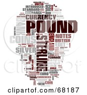 Royalty Free RF Clipart Illustration Of A Pound Word Collage Version 2 by MacX