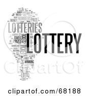 Royalty Free RF Clipart Illustration Of A Lottery Word Collage Version 3