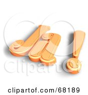 Royalty Free RF Clipart Illustration Of An Orange 3d Word Ja
