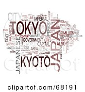 Royalty Free RF Clipart Illustration Of A Japan Word Collage Version 2 by MacX