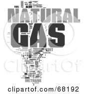 Royalty Free RF Clipart Illustration Of A Natural Gas Word Collage Version 2