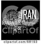 Royalty Free RF Clipart Illustration Of An Iran Word Collage Version 4
