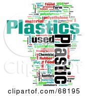 Royalty Free RF Clipart Illustration Of A Plastic Word Collage Version 3