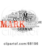 Royalty Free RF Clipart Illustration Of A Mark Word Collage Version 2 by MacX